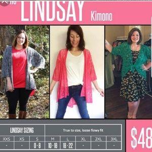 LuLaRoe Sweaters - Lularoe Lindsay Kimono Burgandy Rose